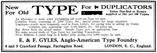 image link-to-typewriter-topics-v022-n3-1912-11-p198-hathi-nyp-33433035151343-748-gyles-ad-type-for-duplicators-anglo-american-type-foundry-sf0.jpg