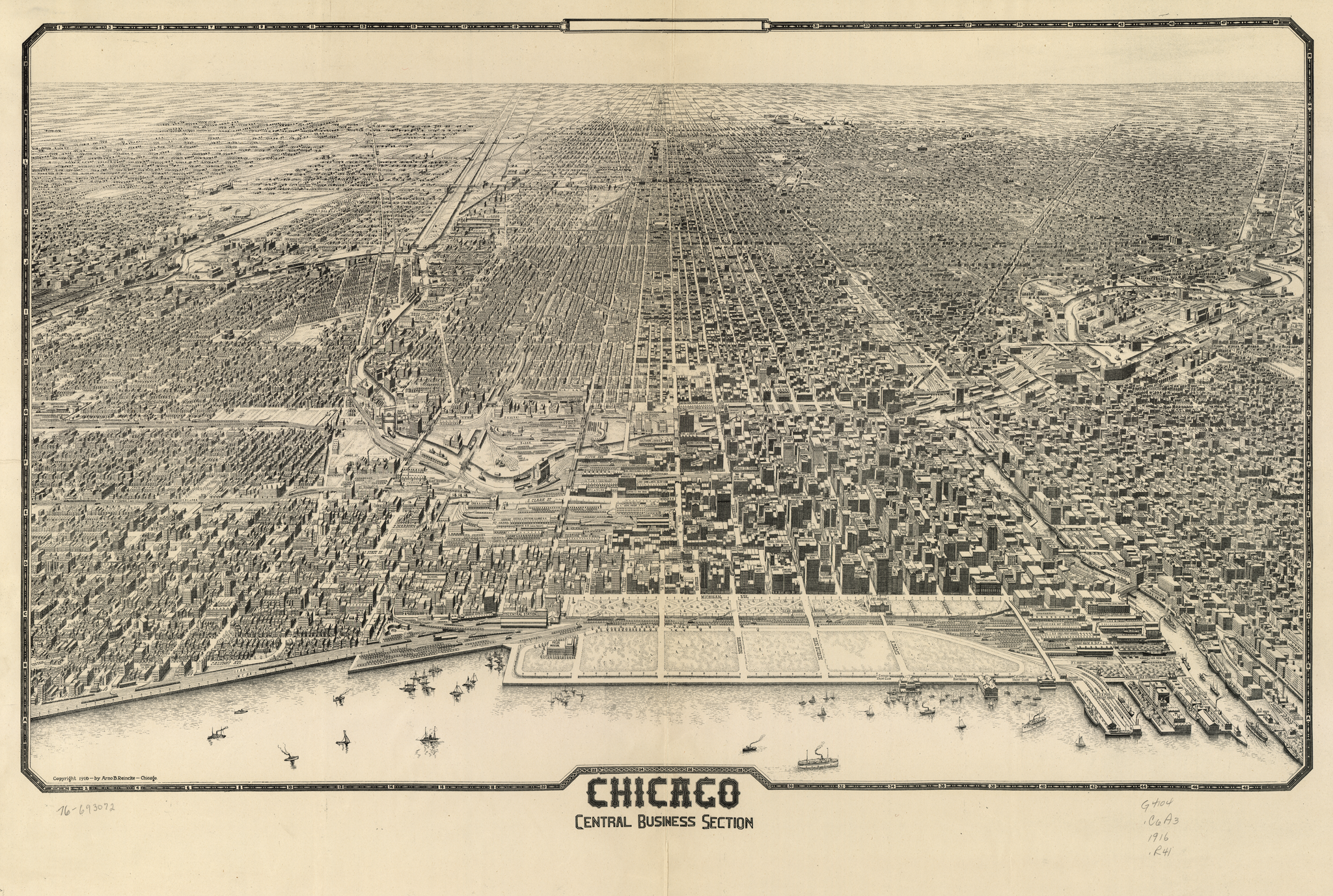 image link to reincke chicago panoramic map